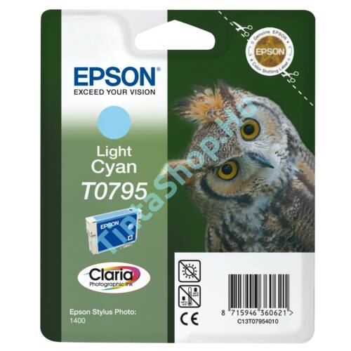 Epson T0795 LC v.cián (v.kék) (LC-Light Cyan) eredeti (gyári, új) tintapatron
