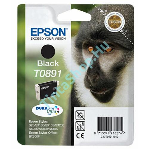 Epson T0891 BK fekete (BK-Black) eredeti (gyári, új) tintapatron