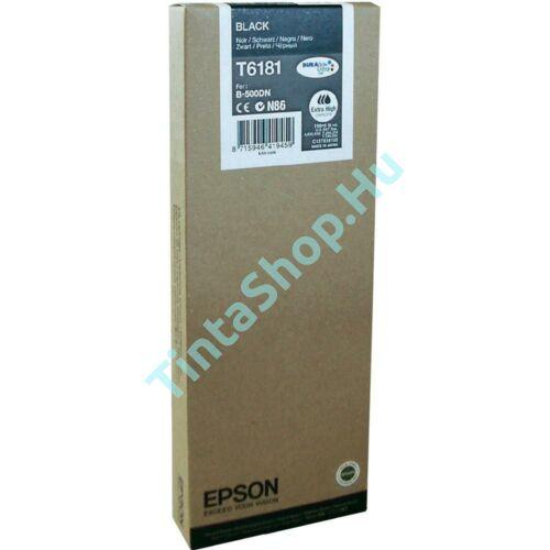 Epson T618100 BK fekete (BK-Black) nagy kapacitású eredeti (gyári, új) tintapatron