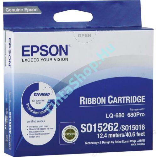 Epson LQ 670 / LQ 680 (S015262) BK fekete (BK-Black) eredeti (gyári, új) festékszalag