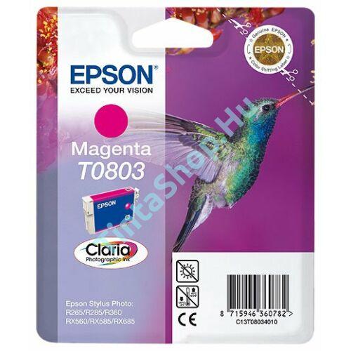 Epson T0803 MG bíbor (piros) (MG-Magenta) eredeti (gyári, új) tintapatron
