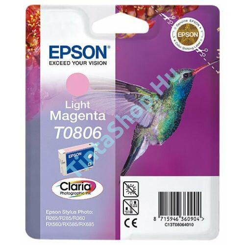 Epson T0806 LM v. bíbor (LM-Light Magenta) eredeti (gyári, új) tintapatron