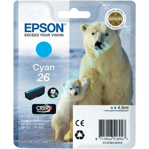 Epson T2612 (No.26) CY cián (kék) (CY-Cyan) eredeti (gyári, új) tintapatron