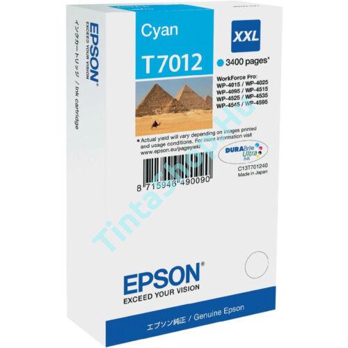 Epson T7012 CY XXL cián (kék) (CY-Cyan) nagy kapacitású eredeti (gyári, új) tintapatron
