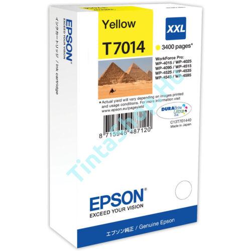 Epson T7014 YL XXL sárga (YL-Yellow) nagy kapacitású eredeti (gyári, új) tintapatron