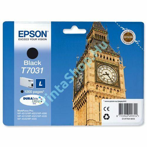 Epson T7031 BK fekete (BK-Black) eredeti (gyári, új) tintapatron