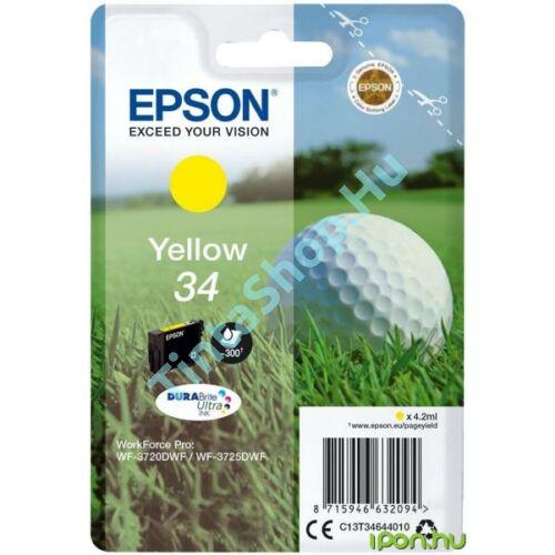 Epson T3464 YL sárga (YL-Yellow) eredeti (gyári, új) tintapatron