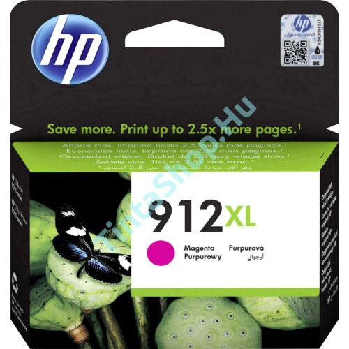 HP 3YL82AE (No.912 XL) MG-Magenta bíbor-piros nagy kapacitású eredeti (gyári, új) tintapatron