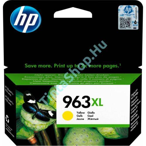 HP 3JA29AE (No.963 XL) YL-Yellow sárga nagy kapacitású eredeti (gyári, új) tintapatron