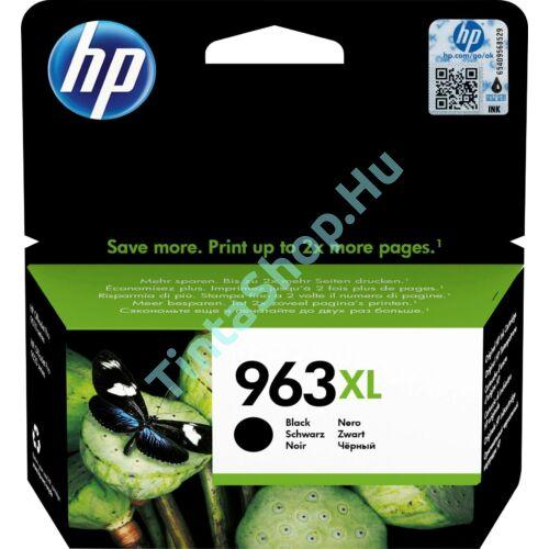 HP 3JA30AE (No.963 XL) BK-Black fekete nagy kapacitású eredeti (gyári, új) tintapatron