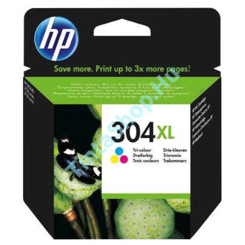 HP N9K07AE (No.304 C XL) színes (C-Color) nagy kapacitású eredeti (gyári, új) tintapatron