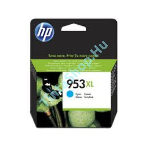 HP F6U16AE (No.953 XL) CY-Cyan cián-kék nagy kapacitású eredeti (gyári, új) tintapatron