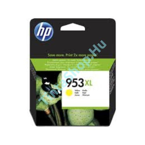 HP F6U18AE (No.953 XL) YL-Yellow sárga nagy kapacitású eredeti (gyári, új) tintapatron