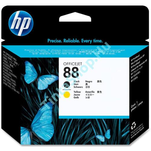 HP C9381A (No.88) BK+YL fekete+sárga eredeti (gyári, új) nyomtatófej