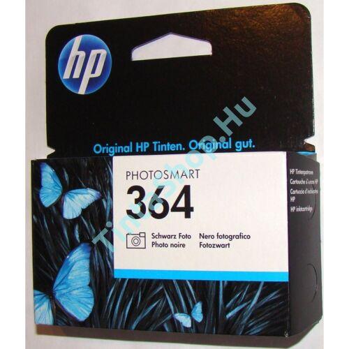HP CB317AE (No.364) PB fotó fekete (PB-Photo Black) eredeti (gyári, új) tintapatron