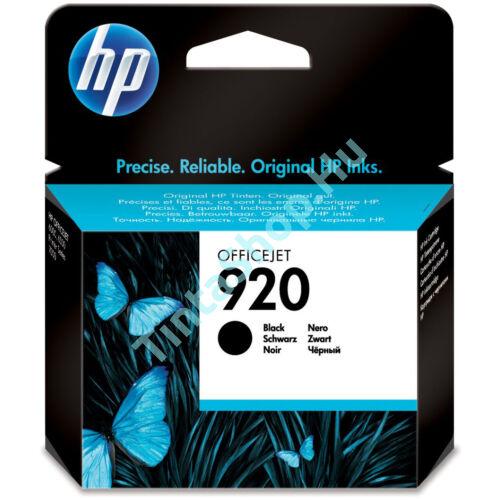 HP CD971A (No.920 BK) fekete (BK-Black) eredeti (gyári, új) tintapatron