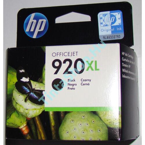 HP CD975A (No.920 XL BK) fekete (BK-Black) nagy kapacitású eredeti (gyári, új) tintapatron
