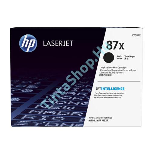 HP CF287X (No.87X) fekete (BK-Black) nagy kapacitású eredeti (gyári, új) toner