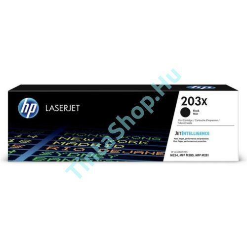 HP CF540X (No.203X) BK fekete (BK-Black) nagy kapacitású eredeti (gyári, új) toner