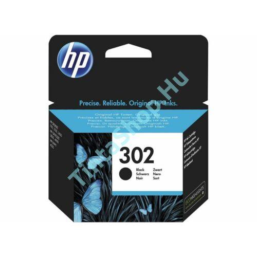 HP F6U66AE (No.302 BK) fekete (BK-Black) eredeti (gyári, új) tintapatron