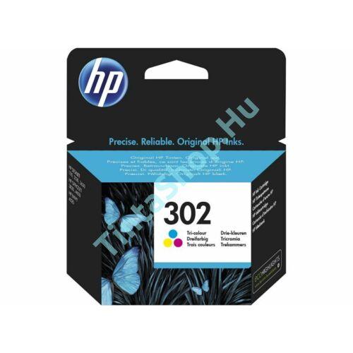 HP F6U65AE (No.302 C) színes (C-Color) eredeti (gyári, új) tintapatron