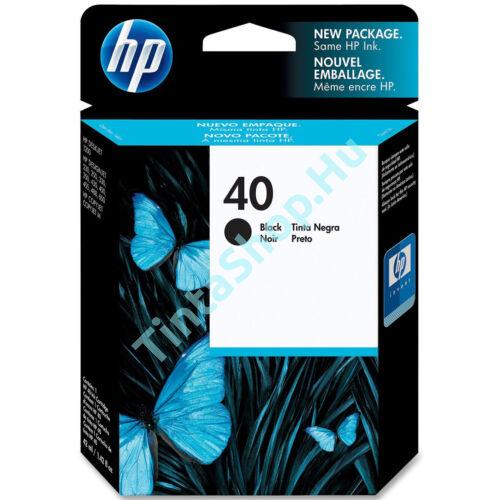 HP 51640A (No.40) BK fekete (BK-Black) eredeti (gyári, új) tintapatron