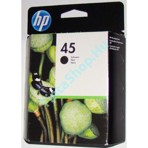 HP 51645A (No.45) fekete (BK-Black) eredeti (gyári, új) tintapatron