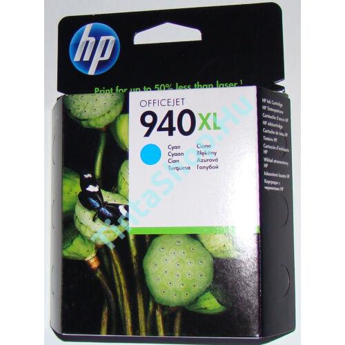 HP C4907A (No.940 XL) CY cián (kék) (CY-Cyan) nagy kapacitású eredeti (gyári, új) tintapatron