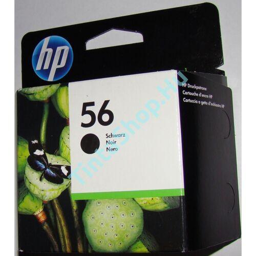 HP C6656A (No.56) fekete (BK-Black) eredeti (gyári, új) tintapatron