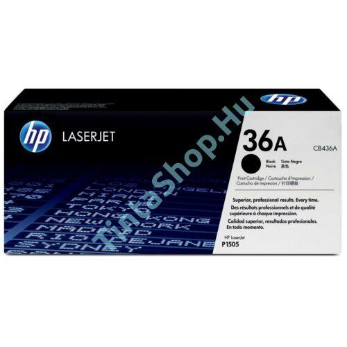 HP CB436A (No.36A)  fekete (BK-Black) eredeti (gyári, új) toner