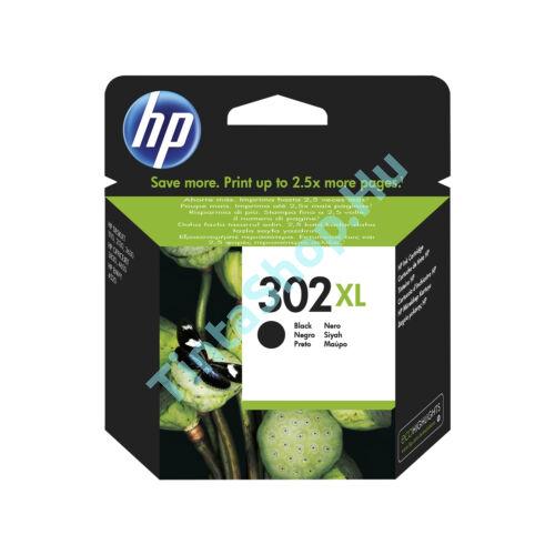 HP F6U68AE (No.302 BK XL) fekete (BK-Black) nagy kapacitású eredeti (gyári, új) tintapatron