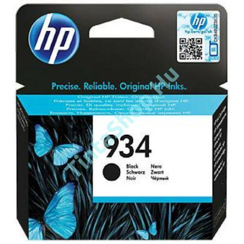 HP C2P19AE (No.934) BK-Black fekete eredeti (gyári, új) tintapatron