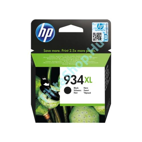 HP C2P23AE (No.934 XL) BK-Black fekete nagy kapacitású eredeti (gyári, új) tintapatron