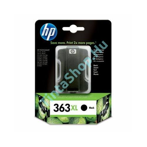 HP C8719E (No.363 XL) BK fekete (BK-Black) eredeti (gyári, új) nagy kapacitású tintapatron