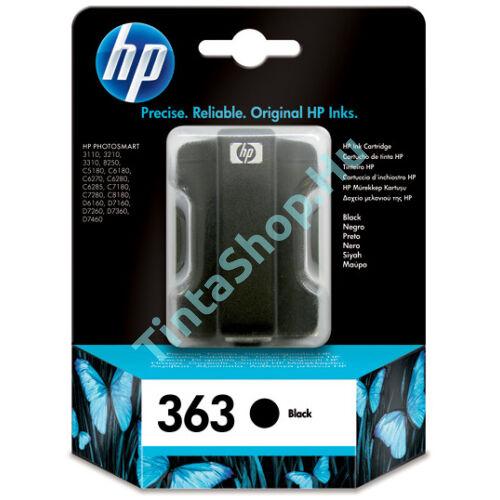 HP C8721E (No.363) BK fekete (BK-Black) eredeti (gyári, új) tintapatron