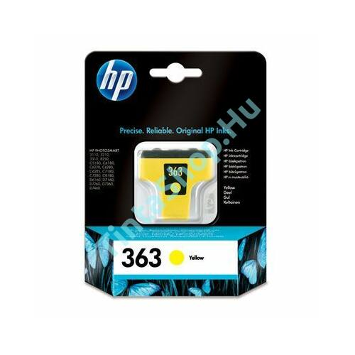 HP C8773E (No.363) YL sárga (YL-Yellow) eredeti (gyári, új) tintapatron