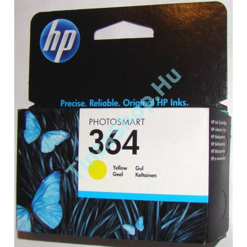 HP CB320AE (No.364) YL sárga (YL-Yellow) eredeti (gyári, új) tintapatron