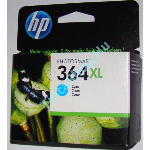 HP CB323AE (No.364) XL CY cián (kék) (CY-Cyan) nagy kapacitású eredeti (gyári, új) tintapatron