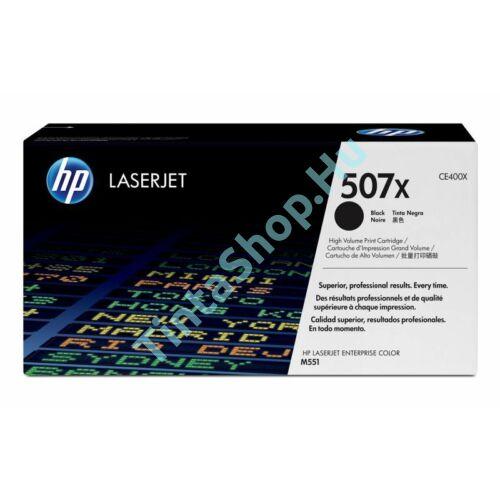 HP CE400X (No.507X) BK fekete (BK-Black) nagy kapacitású eredeti (gyári, új) toner