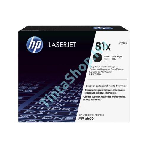 HP CF281X (No.81X) BK fekete (BK-Black) nagy kapacitású eredeti (gyári, új) toner