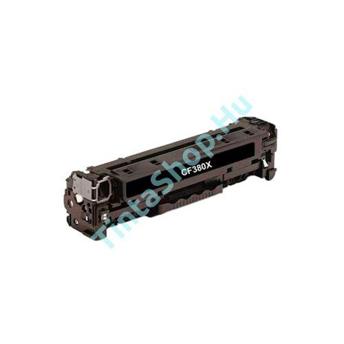 HP CF380X (No.312X) BK fekete (BK-Black) nagy kapacitású kompatibilis (utángyártott) toner