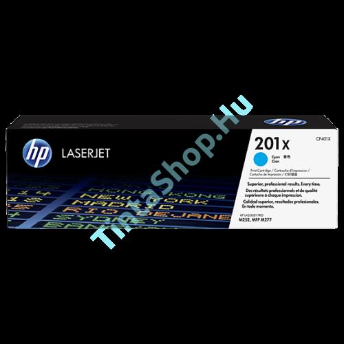 HP CF401X (No.201X) CY cián (kék) (CY-Cyan) nagy kapacitású eredeti (gyári, új) toner