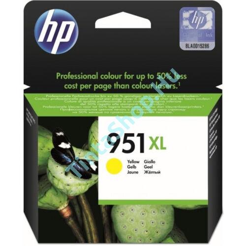 HP CN048AE (No.951 XL) YL sárga (YL-Yellow) nagy kapacitású eredeti (gyári, új) tintapatron