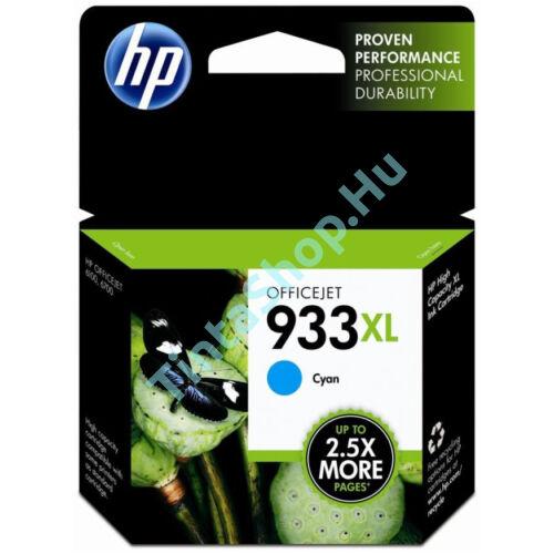 HP CN054AE (No.933 XL) CY cián (kék) (CY-Cyan) nagy kapacitású eredeti (gyári, új) tintapatron