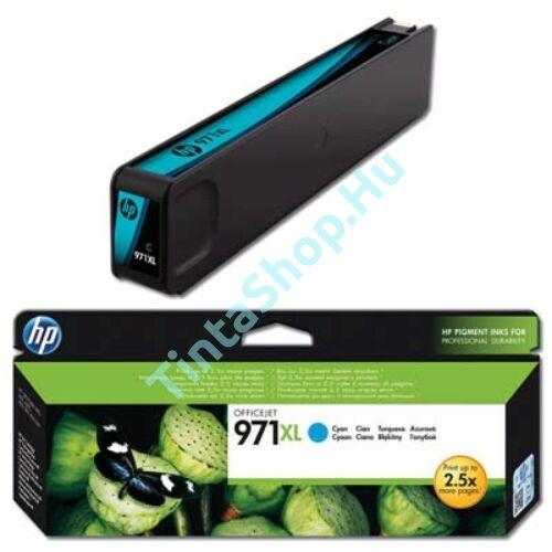 HP CN626AE (No.971 XL) CY cián (kék) (CY-Cyan) nagy kapacitású eredeti (gyári, új) tintapatron