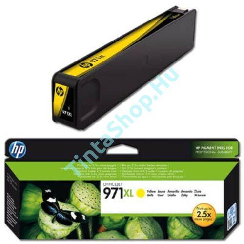 HP CN628AE (No.971 XL) YL sárga (YL-Yellow) nagy kapacitású eredeti (gyári, új) tintapatron