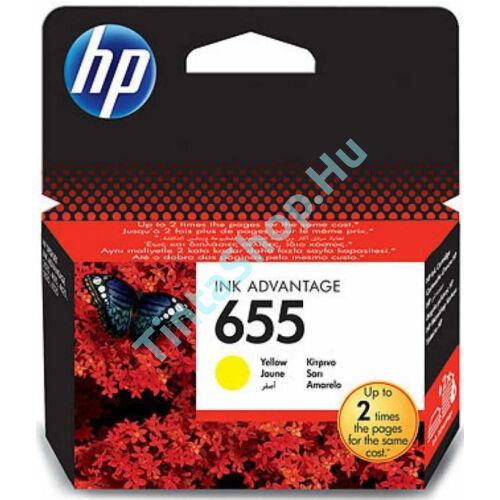 HP CZ112AE (No.655) YL sárga (YL-Yellow) eredeti (gyári, új) tintapatron