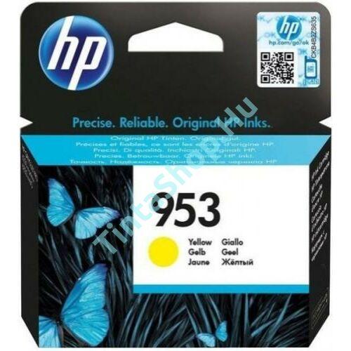 HP F6U14AE (No.953) YL-Yellow sárga eredeti (gyári, új) tintapatron