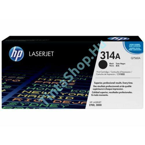 HP Q7560A (No.314A) BK fekete (BK-Black) eredeti (gyári, új) toner