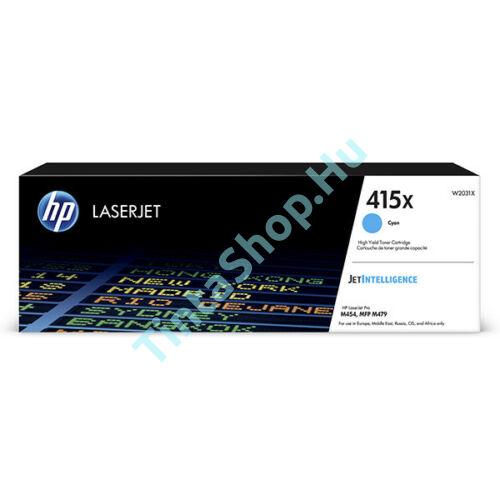 HP W2031X (No.415X) CY cián-kék (CY-Cyan) nagy kapacitású eredeti (gyári, új) toner